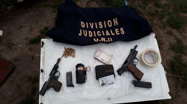 Detienen a nueve personas armadas con un arsenal en zona oeste