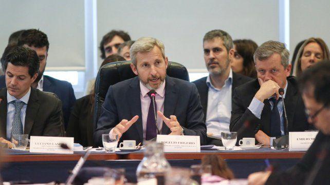 Explicación. El ministro del Interior expuso ayer en la comisión de Presupuesto y Hacienda de Diputados.