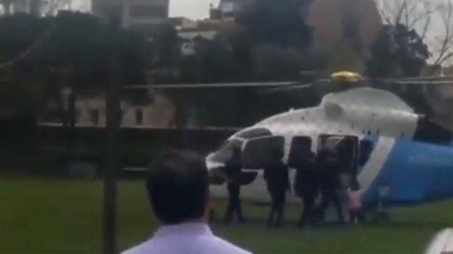 Macri retiró a su hija del colegio en helicóptero