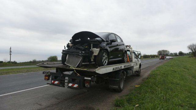 El Ford Fiesta que chocó desde atrás al Sandero.
