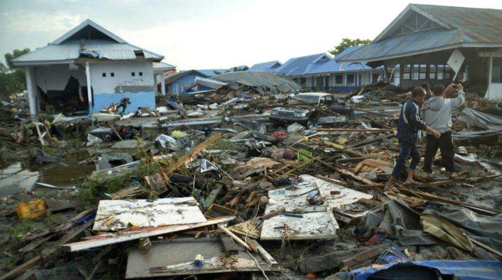 La destrucción que trajo el tsunami