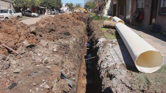 A buen ritmo. La inversión en las obras es cercana al millón de pesos.