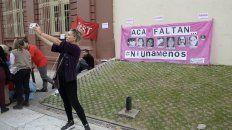 #Niunamenos, una de las consignas contra el femicidio.