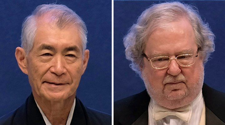 Galardonados. El japonés Tasuko Honio y el estadounidense James Allison recibieron ayer el Premio Nobel.