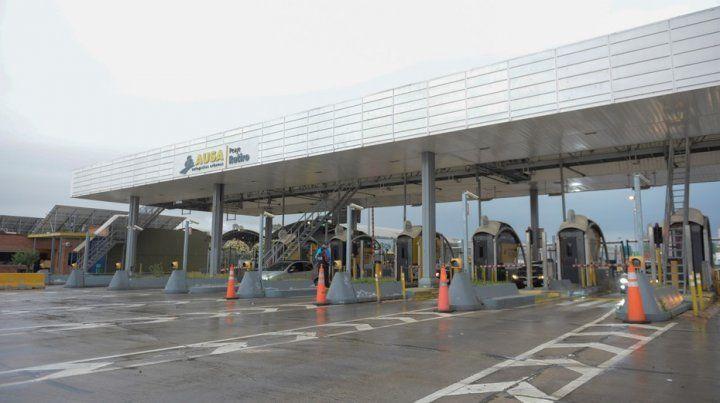 El peaje de la autopista Illia donde se produjo el incidente que terminó con la vida de Cutrera.
