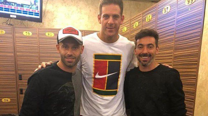 Cómo fue el encuentro entre Del Potro, Mascherano y el Pocho Lavezzi