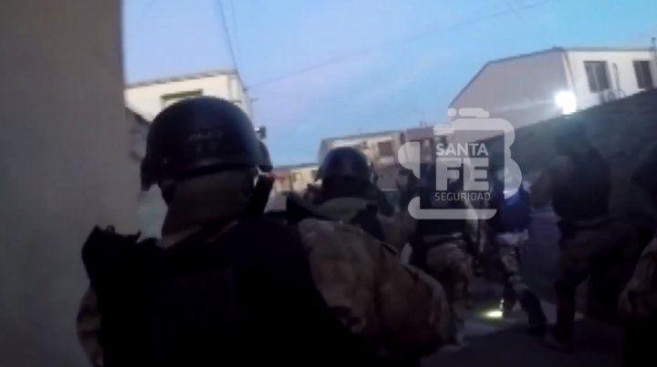 Un video muestra cómo fueron los allanamientos por ataques a funcionarios del Poder Judicial