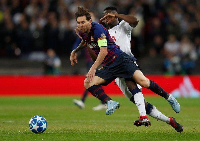 Messi la rompió en el triunfo ante el Tottenham de Pochettino