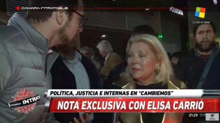 Carrió: Sé que algunos me quieren correr, pero Macri me ama