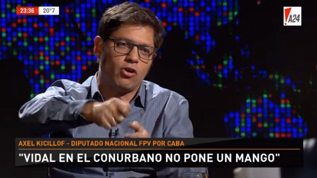 Kicillof dijo que Vidal te acaricia mientras Macri te pega