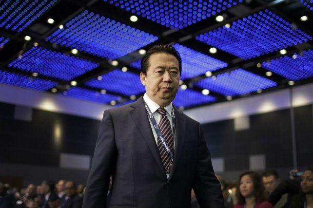 Víctima. Meng quedó al frente de Interpol en noviembre de 2016.