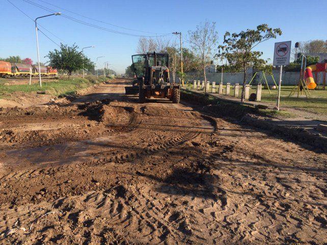 La obra. Se removió el asfalto deteriorado y se tendió uno nuevo.