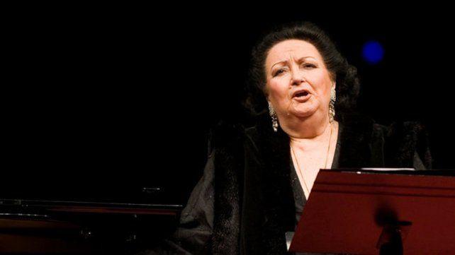 Diva. La soprano Montserrat Caballé tenía 85 años.