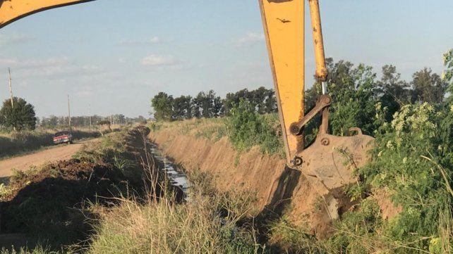 Canalización. Se busca con las obras mejorar el drenaje de los excesos hídricos en épocas de lluvias.