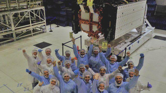 El Saocom 1A. El satélite pasará dos veces por día por la Argentina.