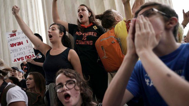 Enojo. Protestas contra Kavanaugh en la Corte Suprema.