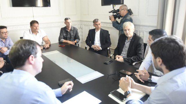 La reunión en Gobernación con las autoridades de los clubes comenzó a las 9.30 de la mañana.