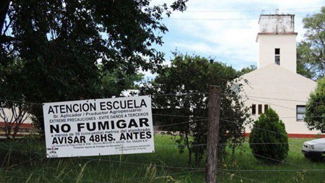 Peligro escuela. En zonas rurales piden la solución al tema fumigaciones.