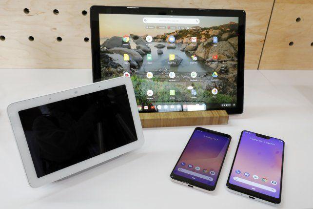 La Tablet Pixel Slate, el Home Hub y los celulares Pixel de Google.