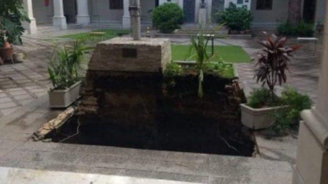 Profundo. El pozo tiene unos 8 metros de hondo.
