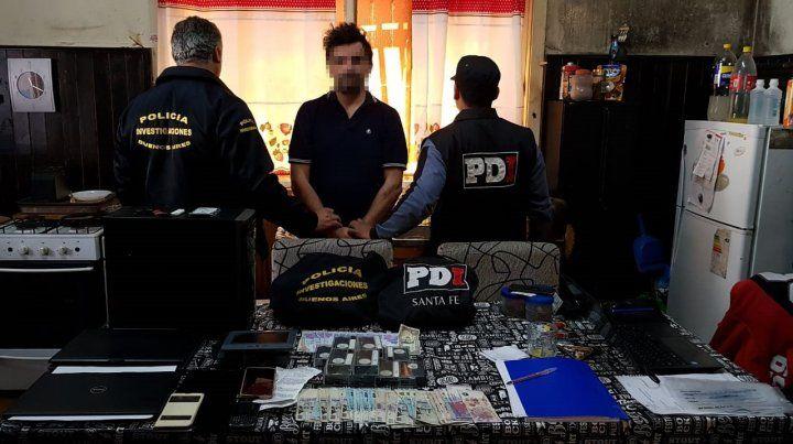 Detenido. La PDI hizo allanamientos y secuestró elementos de prueba.