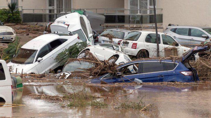 Las impactantes imágenes de la fuerte inundación en Mallorca