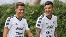 Juegan de arranque. Paulo Dybala y Leandro Paredes estarán entre los once que eligió Scaloni, que en el último amistoso ante Colombia los hizo actuar en el complemento.