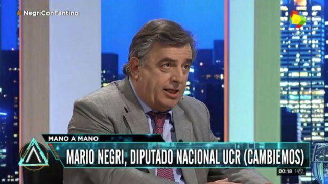 El radical Negri reconoció que hay estrés social por las tarifas