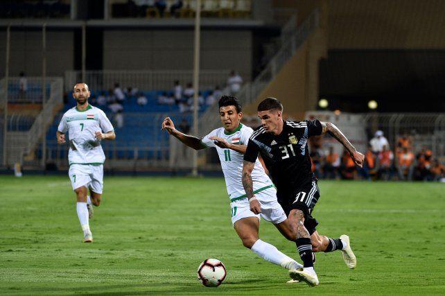 El rosarino Franco Cervi marcó en la goleada argentina 4 a 0 frente a Irak