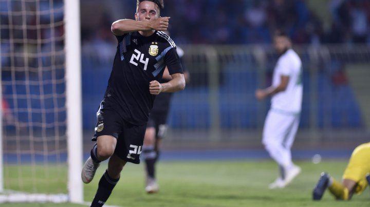 Franco Cervi marcó el cuarto gol del equipo argentino.