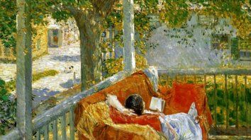Couch on the Porch, Cos Cob, 1914, de Frederick Childe Hassam (1859–1935).