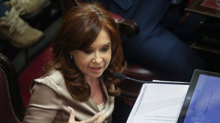 Verborrágica. Cristina volvió a culpar a Macri por su situación judicial.