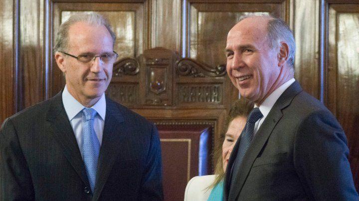 Ministros. Rosenkrantz y Lorenzetti dan por superada la polémica.