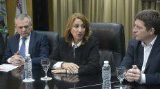 Fein presentó esta mañana en el Banco Municipal una línea de créditos para Pymes.