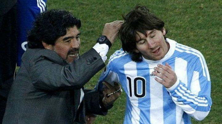 Maradona, muy duro con Messi: Es inútil querer hacer caudillo a alguien que va 20 veces al baño antes del partido