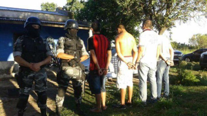 Detenidos. Los cuatro hombres apresados en noviembre de 2017 y que eran parte del grupo de traficantes.