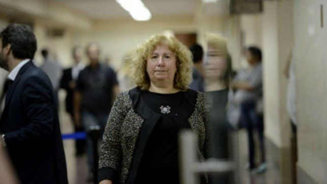 Señora jueza. Mónica Lamperti presidió la audiencia imputativa.