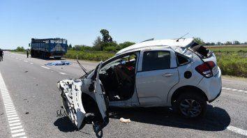 Falleció una mujer en la autopista a Santa Fe