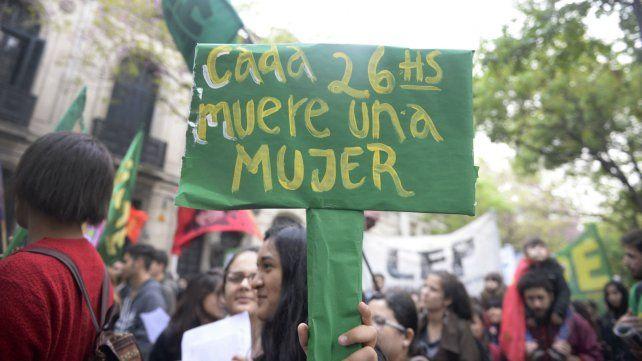 Una de las marchas en contra de la violencia machista que se realizaron en Rosario.