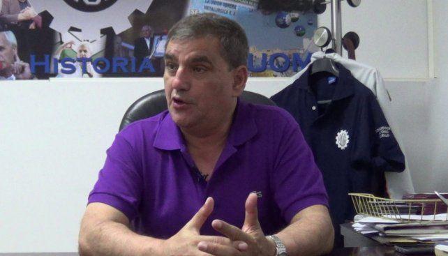 Antonio Donello, secretario General de la Unión Obrera Metalúrgica.