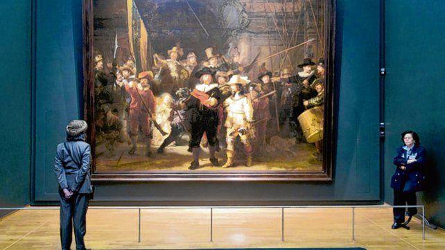 Una obra de Rembrandt será restaurada ante el público