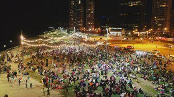 Las fotos del picnic nocturno en el parque de la Arenera