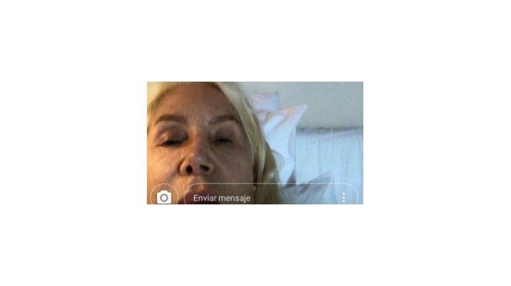 Susana publicó una selfie que mostró su rostro a cara lavada