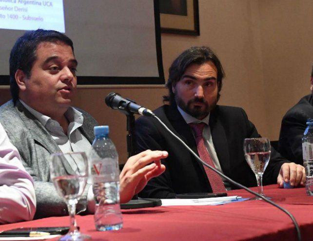 Panel. Incicco y Triaca disertaron en la Universidad Católica Argentina.