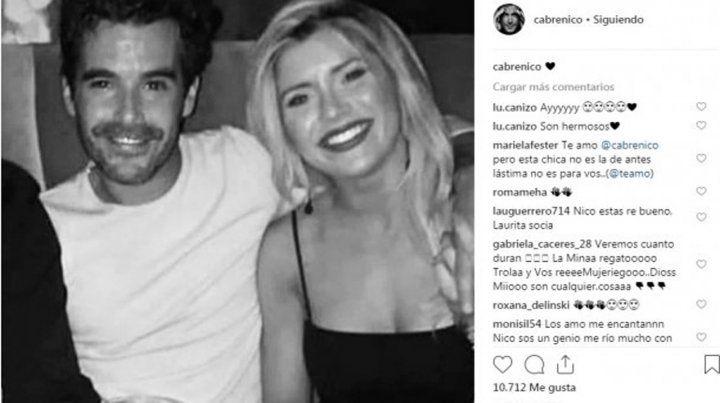 Nicolás Cabré publicó la primera foto junto a Laurita Fernández