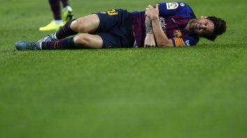 Messi se fracturó y estará inactivo al menos tres semanas