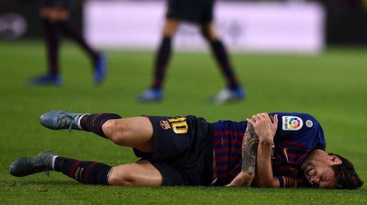 El brazo derecho. Leo cayó mal en el partido del sábado ante Sevilla y se perderá varios partidos