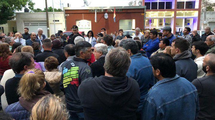 Vecinos de Pueblo Andino salieron a reclamar mayor seguridad