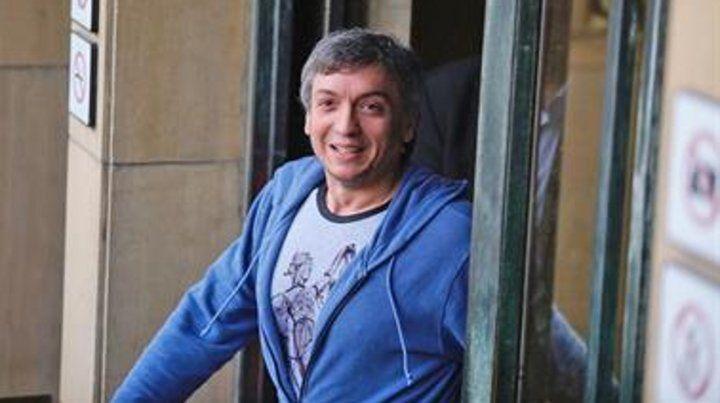 Máximo arribó a los Tribunales Federales en  Retiro minutos antes de las 11 y se retiró 40 minutos después.