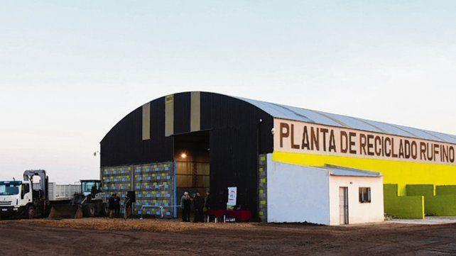 Centro de tratamiento. La planta de reciclado de Rufino ya inaugurada.